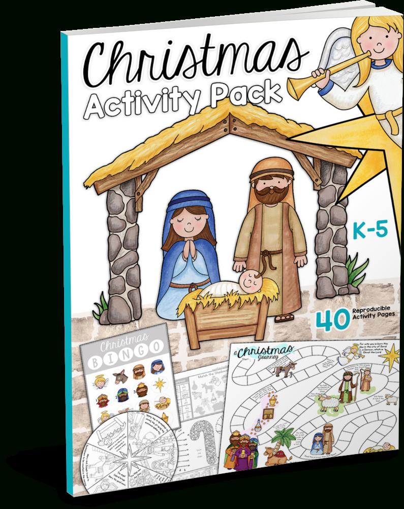 Christmas Bible Printables - Christian Preschool Printables - Free Printable Religious Christmas Games