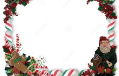 Christmas Border Candy And Elf Stock Illustration – Illustration Of – Free Printable Christmas Frames And Borders