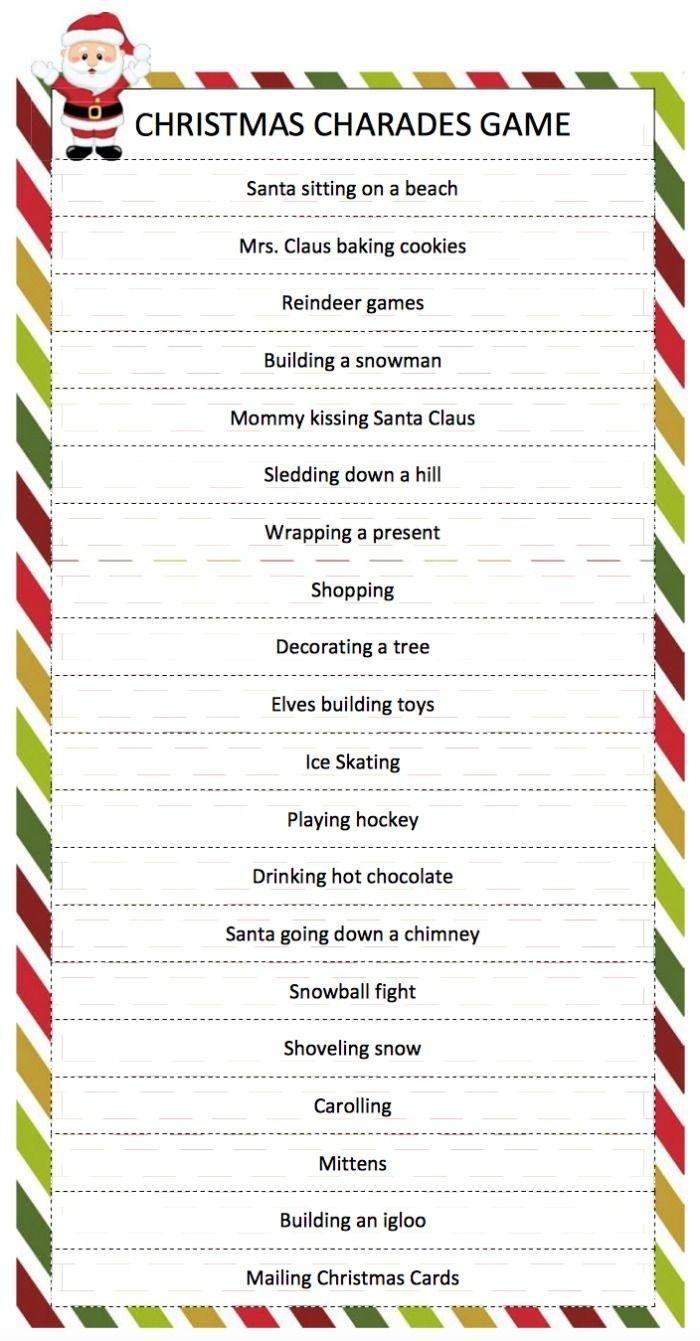Christmas Charades Game | Church Ideas | Christmas Games, Christmas - Free Printable Religious Christmas Games