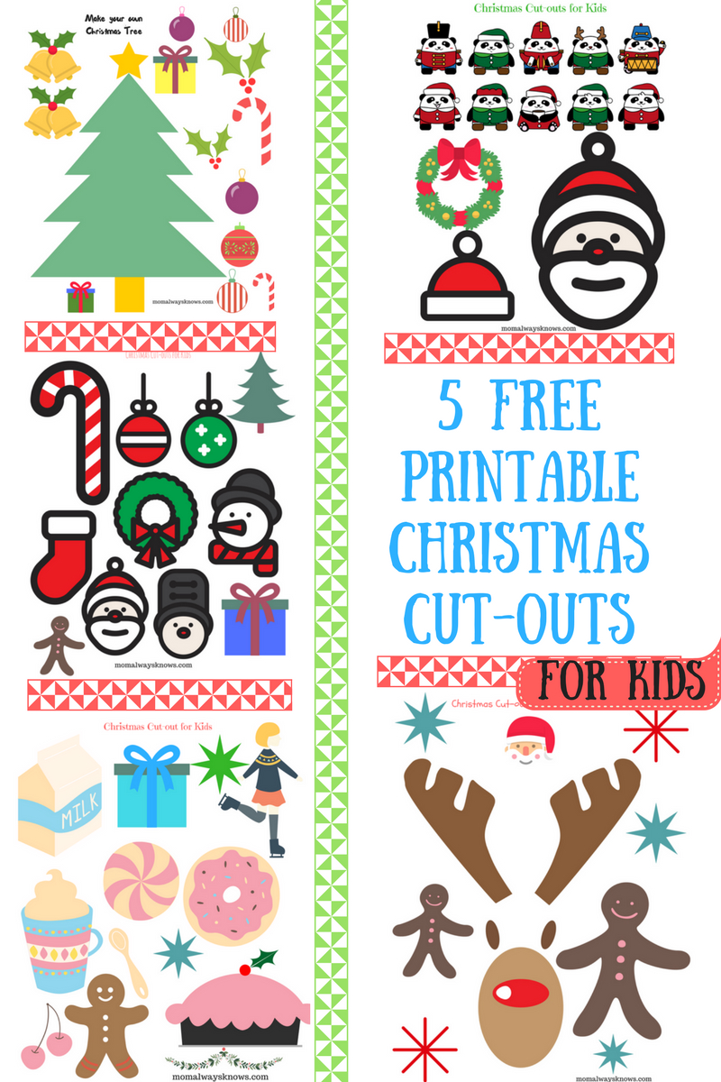 Christmas Craft Ideas For Kids- 5 Free Printable Christmas Cut-Outs - Free Printable Christmas Cutouts