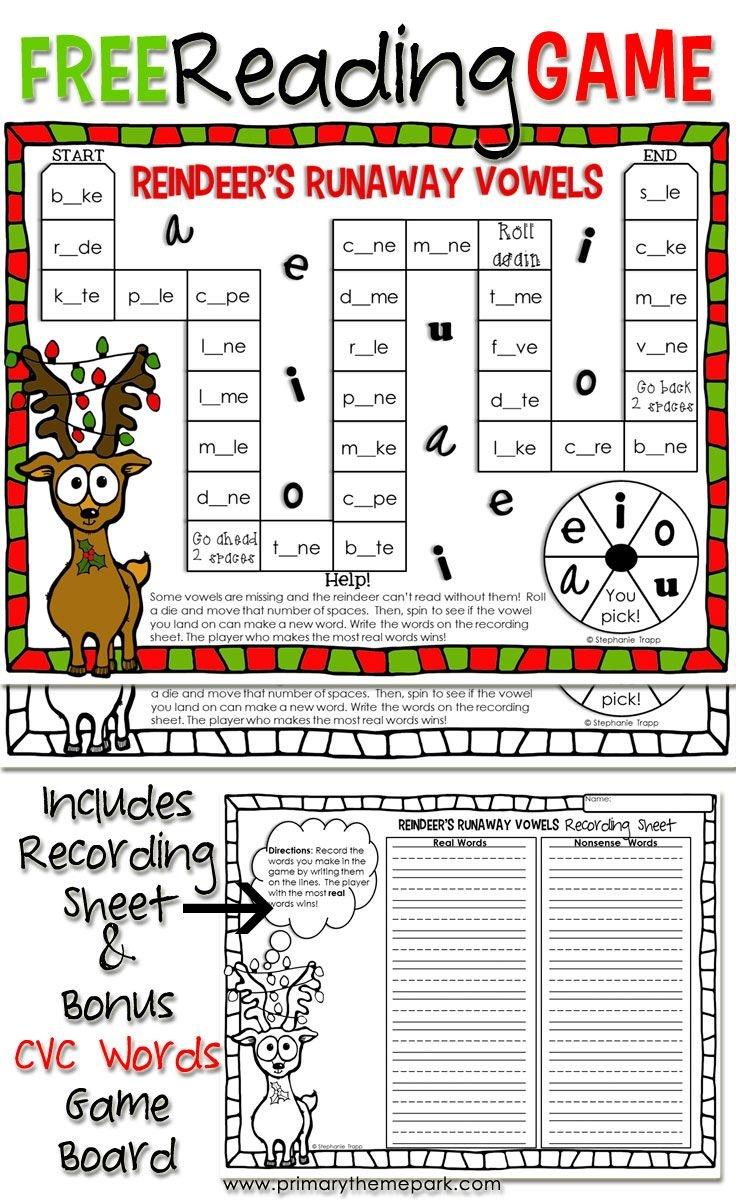 Christmas Reading Game Printable   Educational Finds And Teaching - Free Printable Reading Games For 2Nd Graders