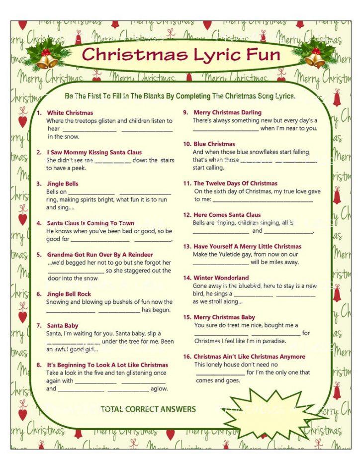Christmas Song Scramble Free Printable