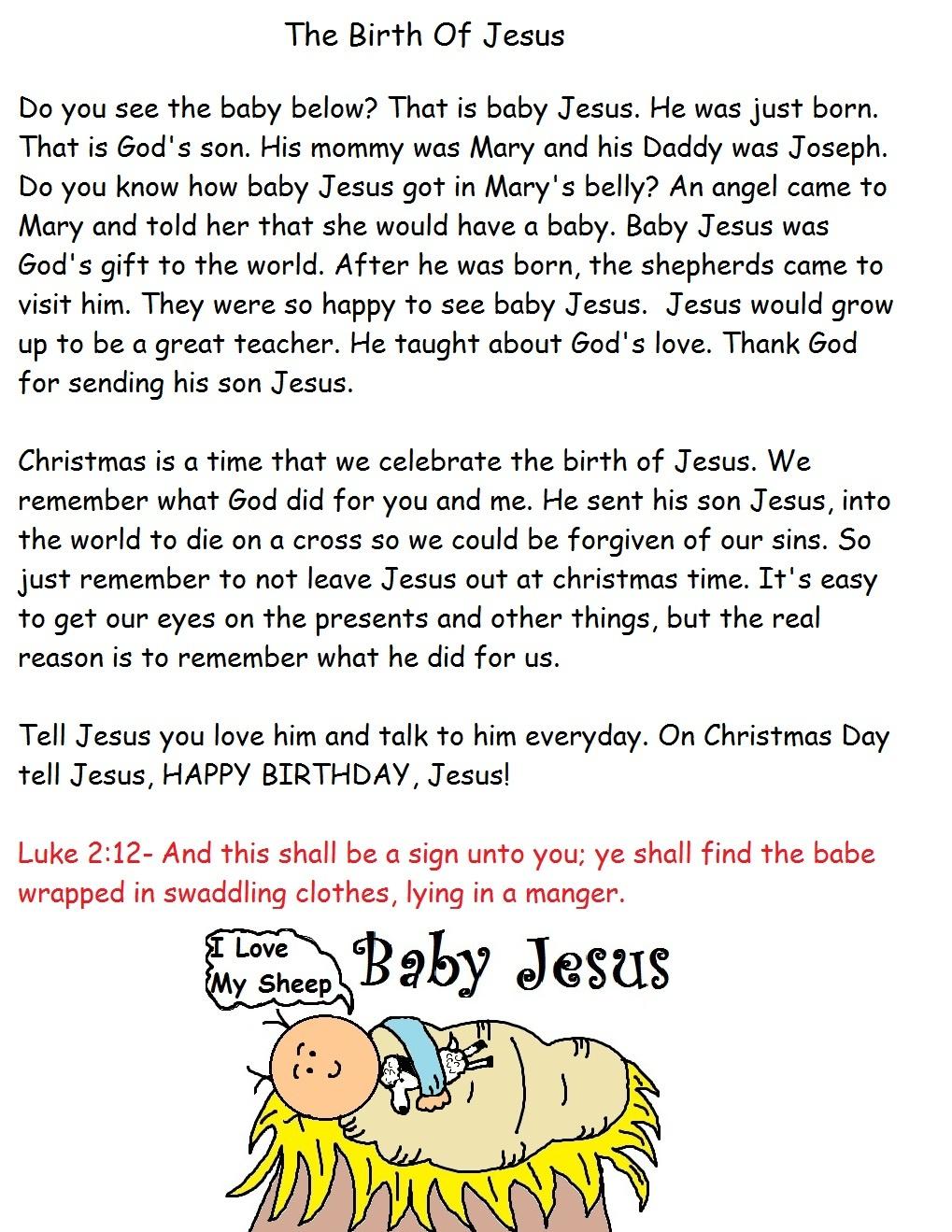 Christmas Sunday School Lesson - Free Printable Christmas Plays For Sunday School