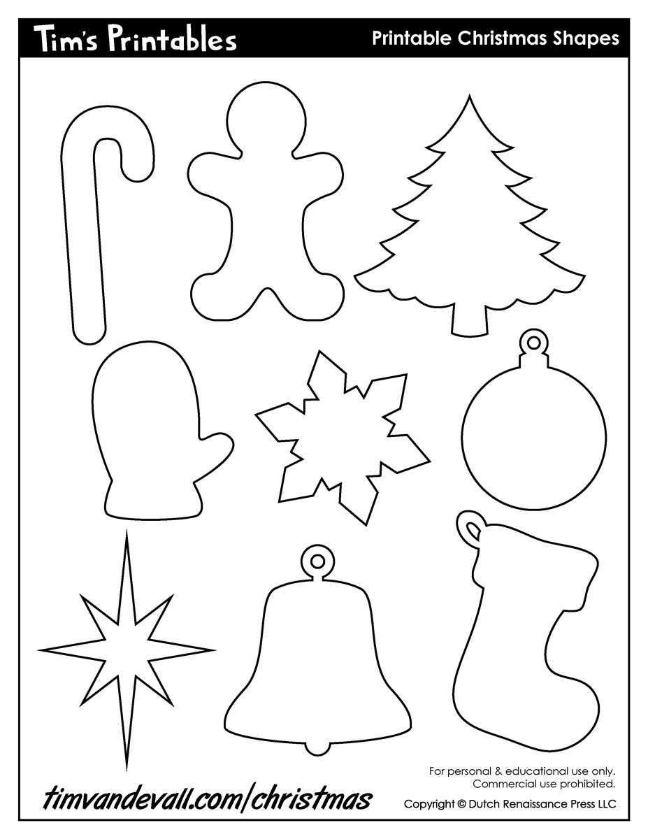 Christmasble Templates Images Design Shapes Decorations Card Free - Free Printable Christmas Cutouts