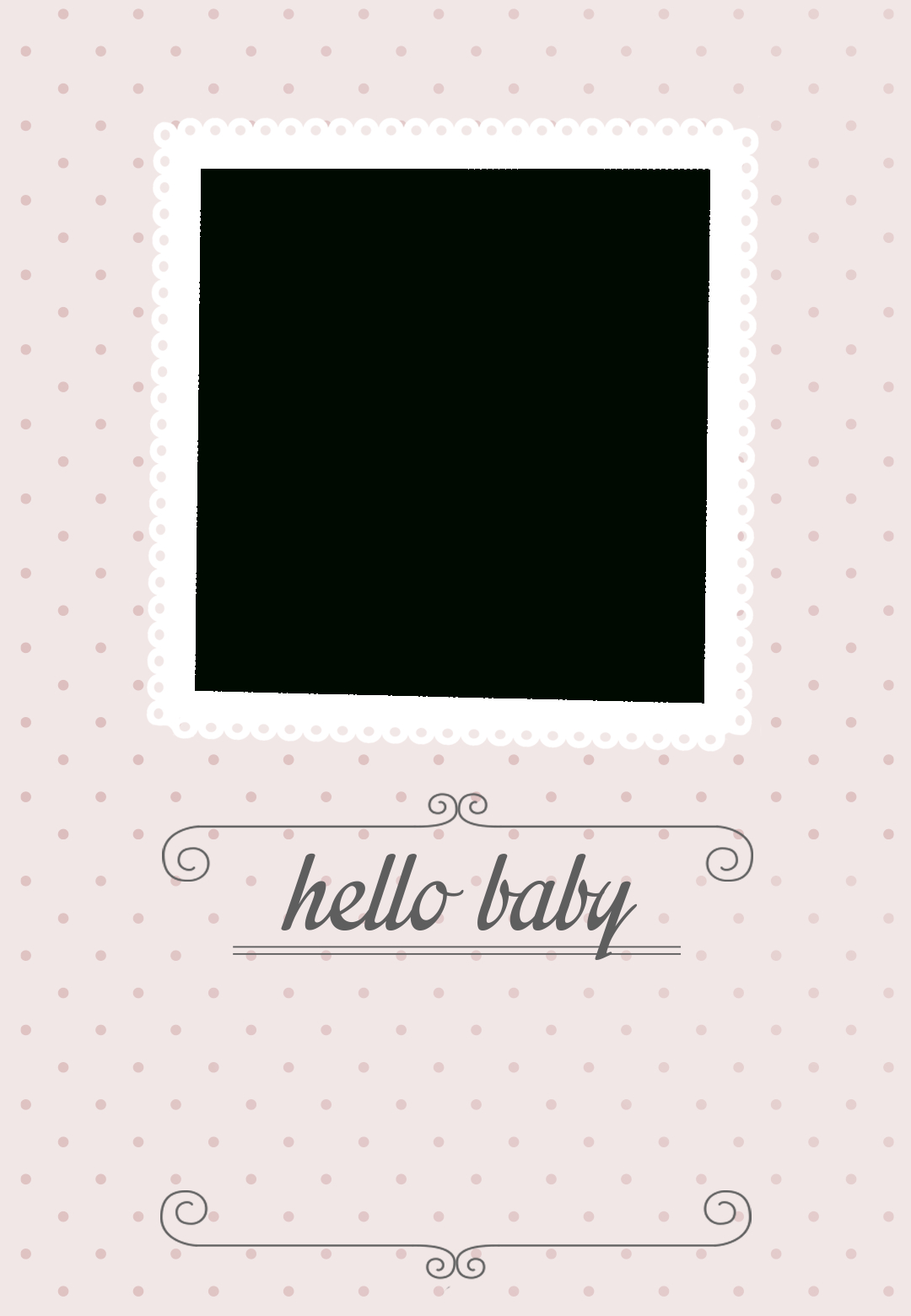 Classic Pink Dotted - Free Printable Birth Announcement Template - Free Printable Baby Announcement Templates