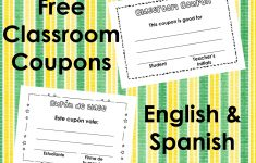 Classroom Coupons – English And Spanish | Squarehead Teachers – Free Printable Homework Pass Coupon