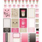 Coffee Kawaii – Planner Addiction   Free Printable Kawaii Stickers