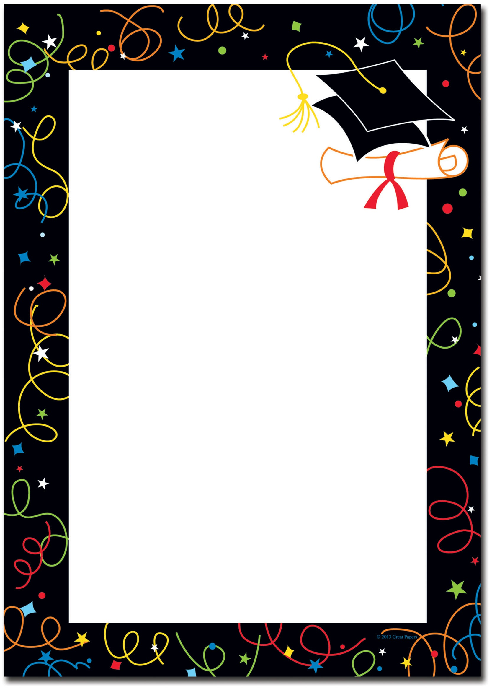 Collection Of Free Graduating Clipart Border. Download On Ui Ex - Free Printable Graduation Paper