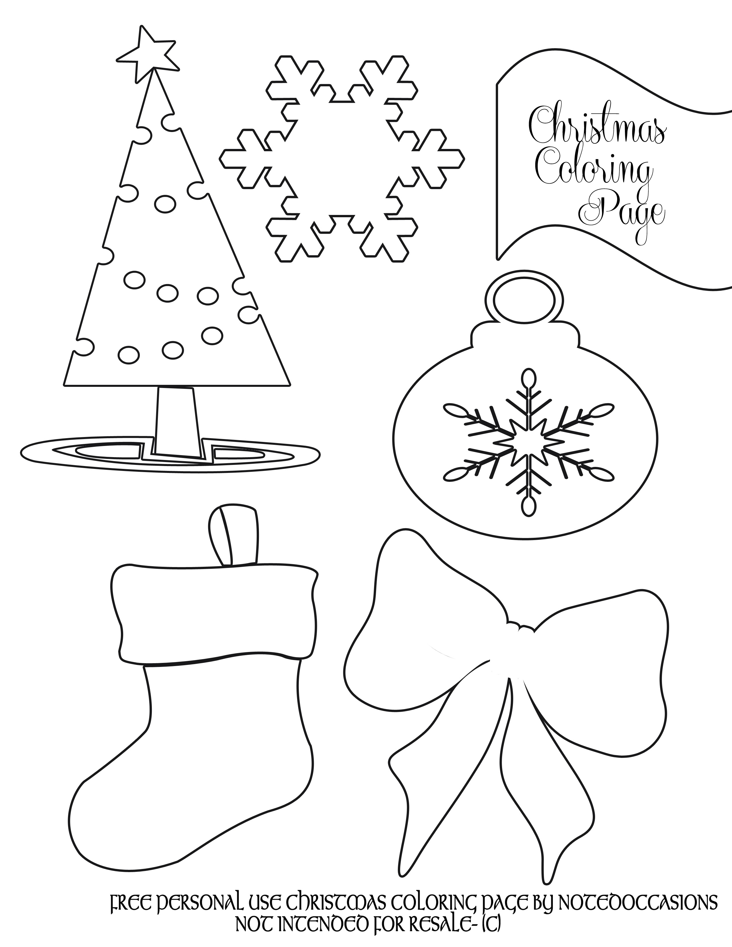 Coloring Book World ~ Free Printable Holiday Coloring Pages - Xmas Coloring Pages Free Printable