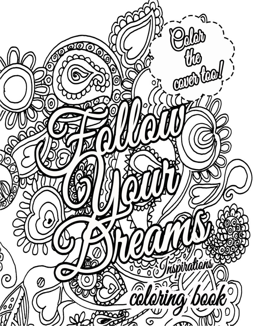 Coloring Book World ~ Motivational Coloring Pages For Adults - Free Printable Inspirational Coloring Pages