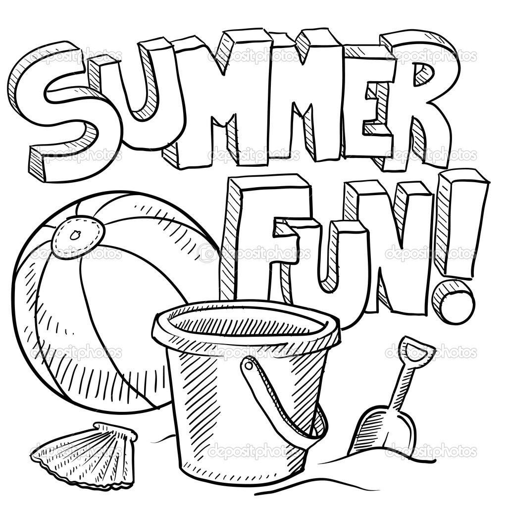 Coloring Page ~ Quality Free Printable Summer Coloring Pages - Free Printable Summer Coloring Pages