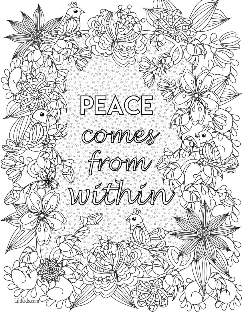 Coloring Pages Ideas: Coloring Pages Ideas Inspirational Quotes Book - Free Printable Inspirational Coloring Pages