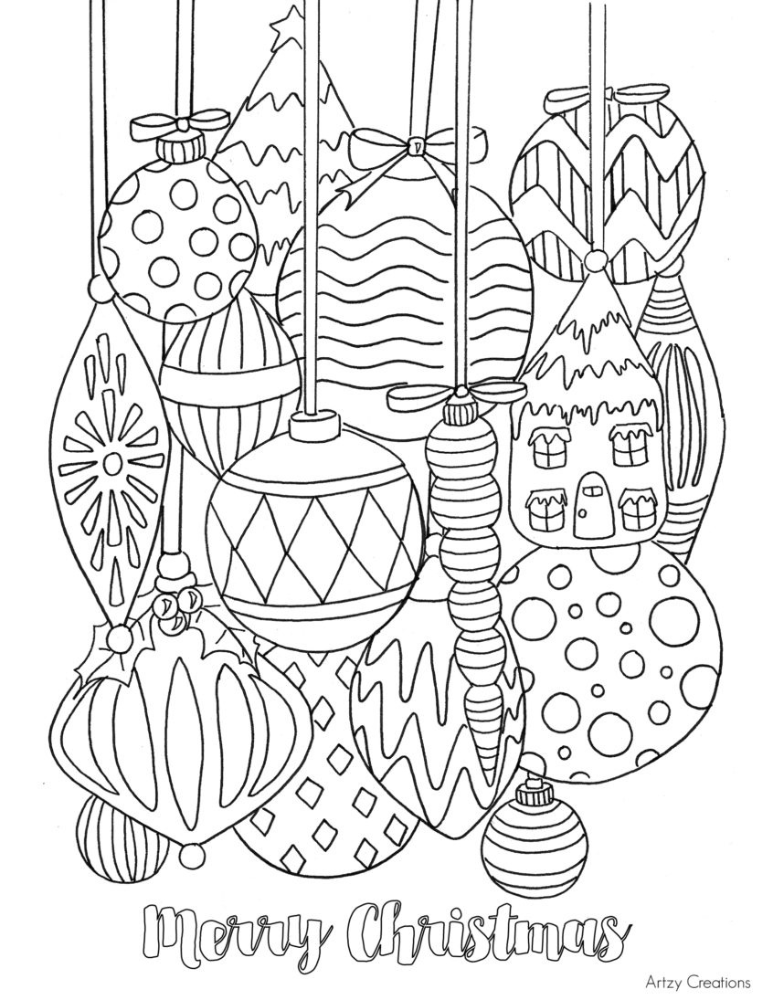 Coloring Pages Ideas: Free Printable Christmas Coloring Pages For - Free Printable Christmas Coloring Pages