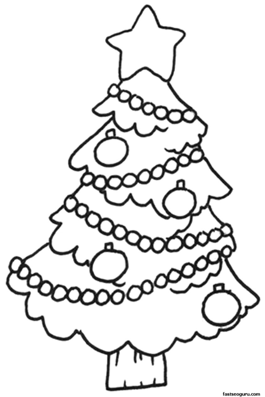 Coloring Pages Ideas: Marvelous Christmas Tree Coloring Image - Xmas Coloring Pages Free Printable