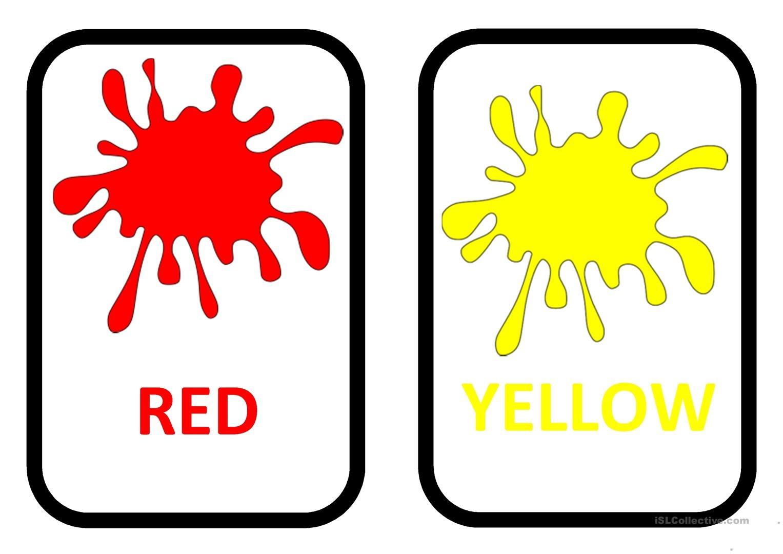Colours Flashcards Worksheet - Free Esl Printable Worksheets Made - Free Printable Colour Flashcards