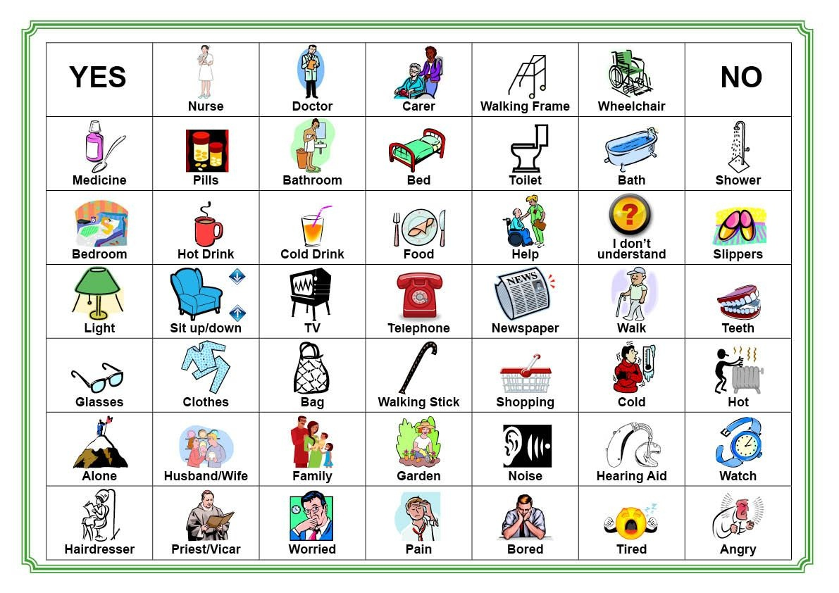 Communication Board For Stroke Victim | Communication Board Our - Free Printable Communication Boards For Adults