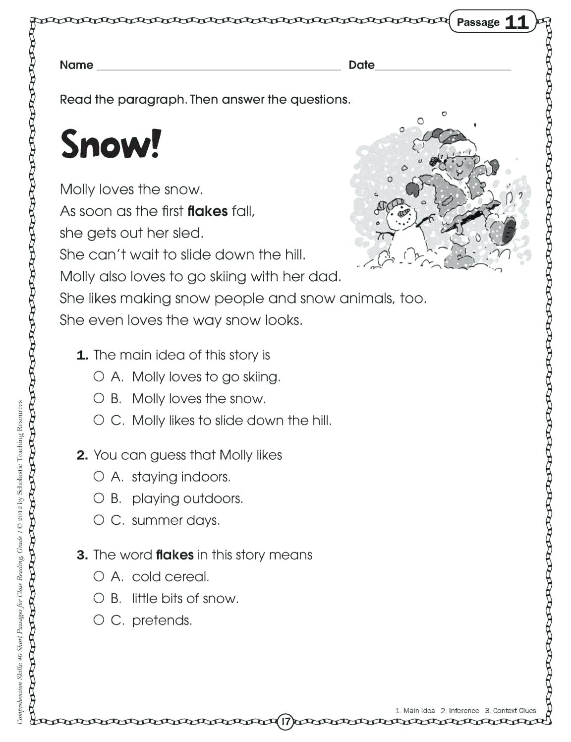 Comprehension Activities For 2Nd Grade Free Printable Reading - Free Printable Reading Comprehension Worksheets