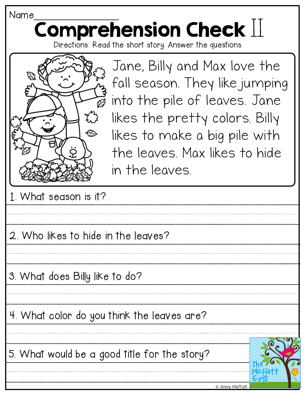 Comprehension Checks And So Many More Useful Printables! | Reading - Free Printable Comprehension Worksheets For Grade 5