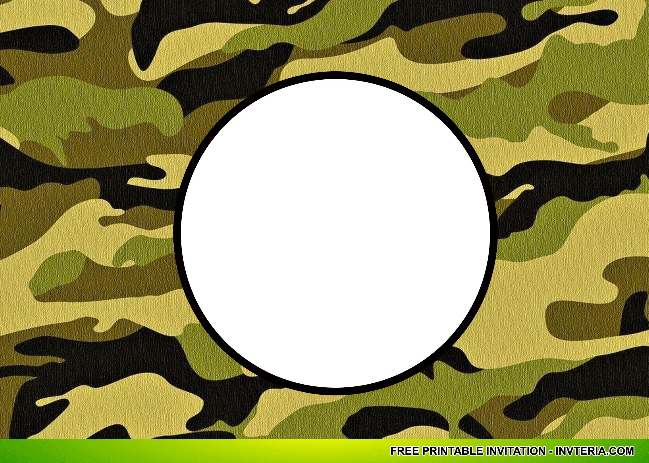 Cool Best Free Printable Camo Birthday Invitations Idea | Invitation - Free Printable Camouflage Invitations