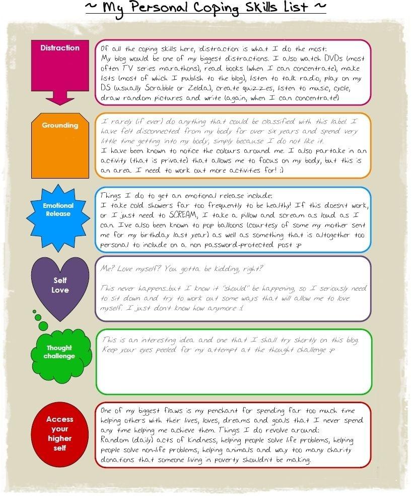 Coping Skills | Positive Behavior Supports | Coping Skills - Free Printable Coping Skills Worksheets