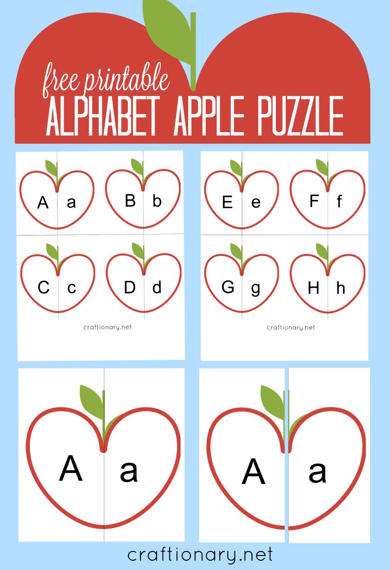 Craftionary - Free Printable Alphabet Puzzles