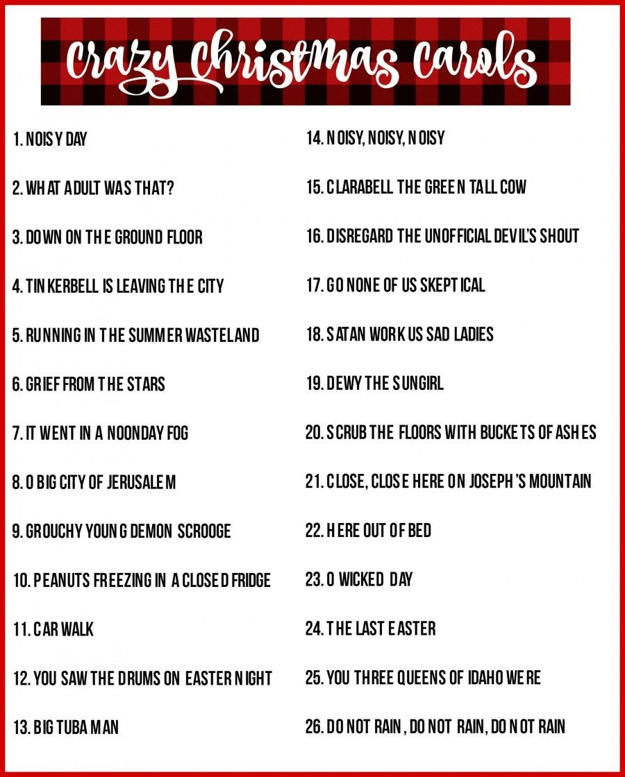 Crazy Christmas Carols Printable | Girl Scouts | Free Christmas - Christmas Song Scramble Free Printable