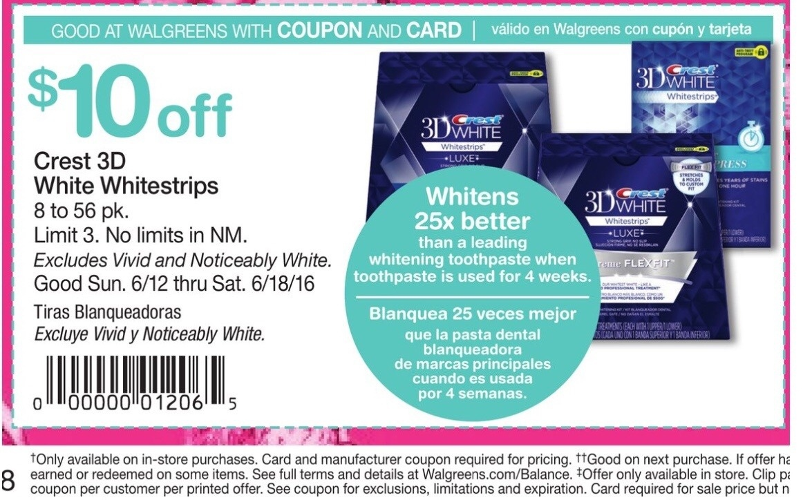 Crest White Strip Coupons 2018 : Harcourt Outlines Coupons - Free Printable Crest Coupons
