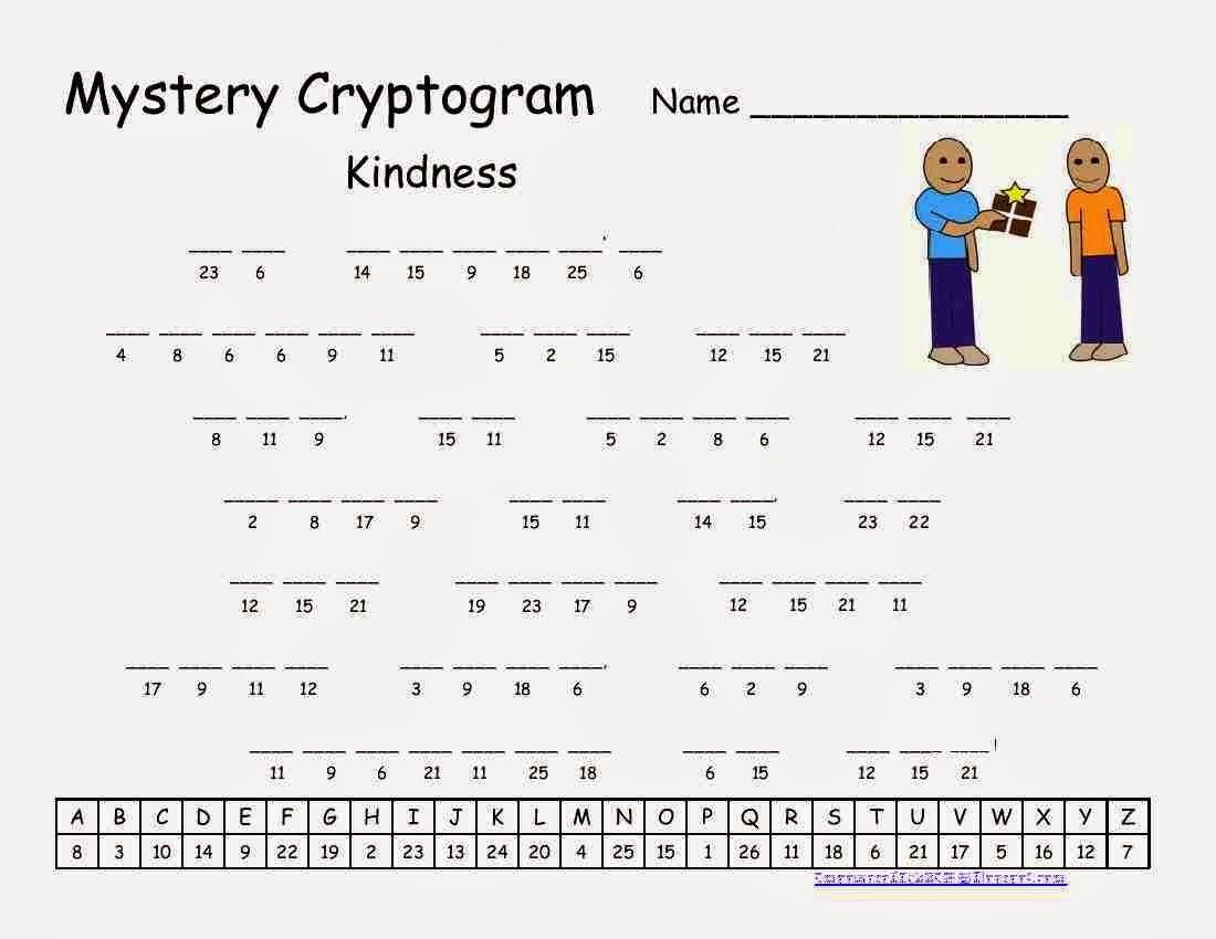 Cryptograms! | Cjrl: Kids Zone - Free Printable Cryptoquip Puzzles