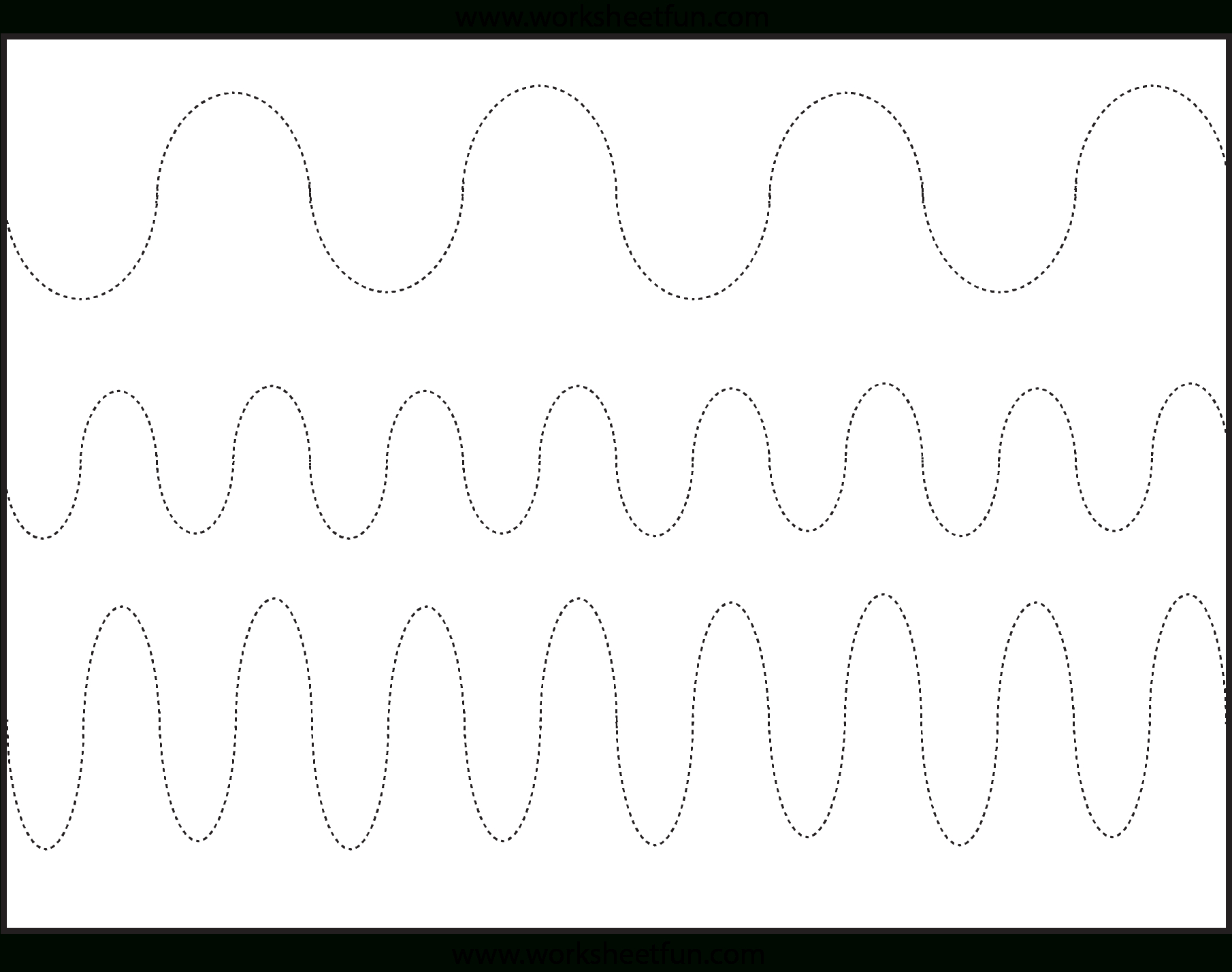 Curved Line Tracing – 3 Worksheets / Free Printable Worksheets - Free Printable Preschool Worksheets Tracing Lines