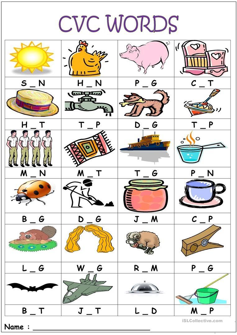 Cvc Words- Medial Sounds Worksheet - Free Esl Printable Worksheets - Free Printable Cvc Worksheets
