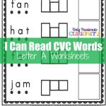 Cvc Worksheets: Cut And Paste Letter A   Only Passionate Curiosity   Free Printable Cvc Worksheets