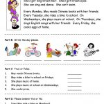 Days Of The Week   Simple Reading Comprehension Worksheet   Free Esl   Free Printable English Lessons For Beginners