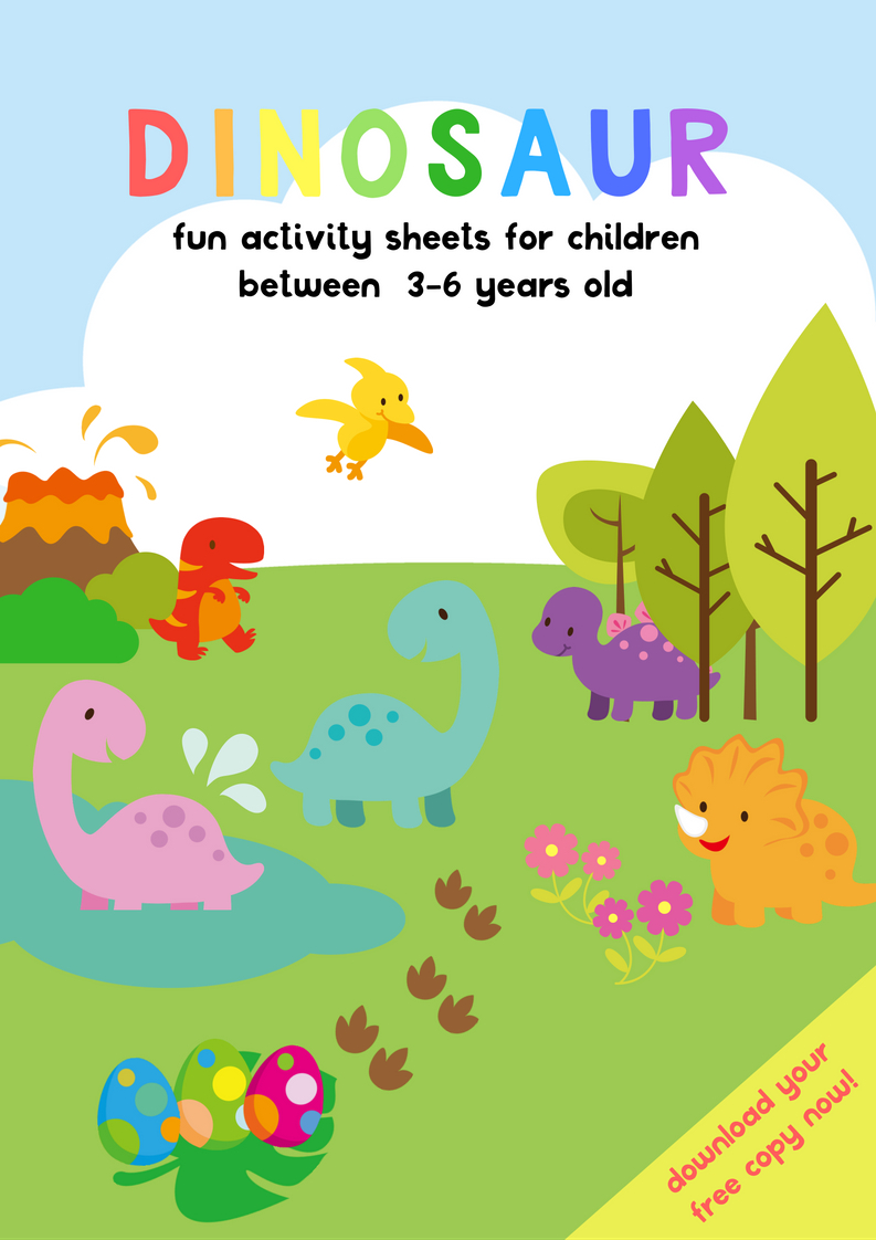 Dinosaur Activity Sheets For 3-5 Years Old   Free Printable Pack - Free Printable Activities For 6 Year Olds