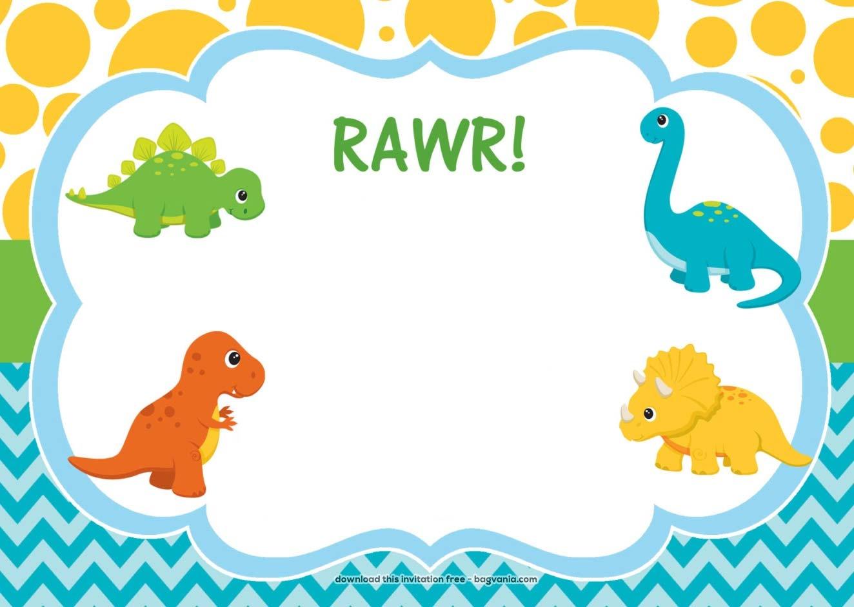 Dinosaur Invitation Template - Kaza.psstech.co - Free Printable Dinosaur Baby Shower Invitations
