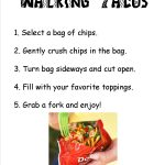 Directions For A Walking Taco Bar. Print This Out And Place In A   Free Printable Taco Bar Signs