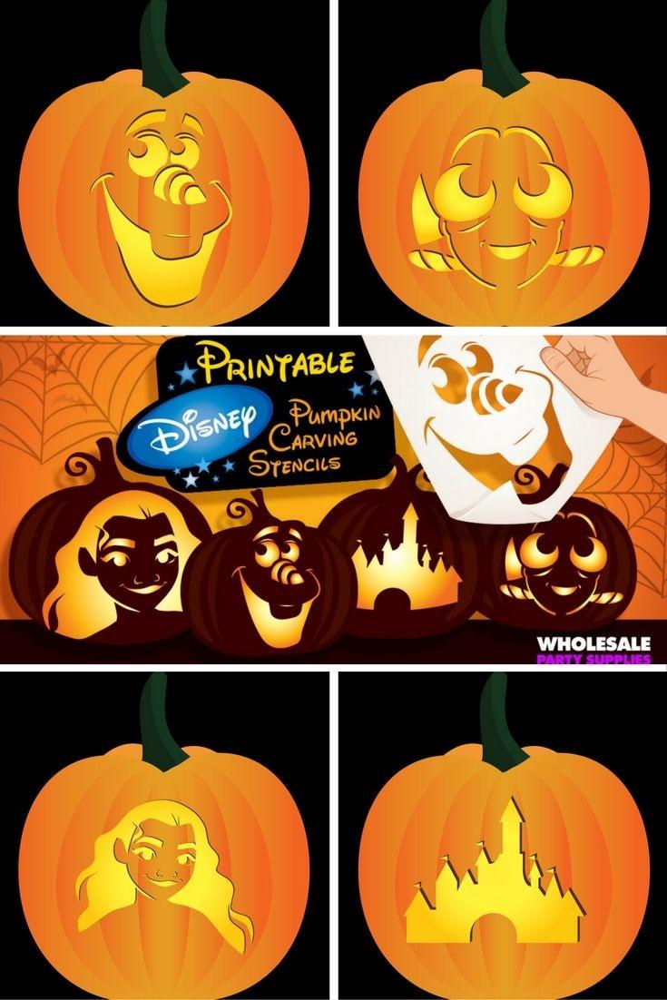 Disney Pumpkin Carving Patterns Free Printable (81+ Images In - Free Pumpkin Carving Patterns Disney Printable