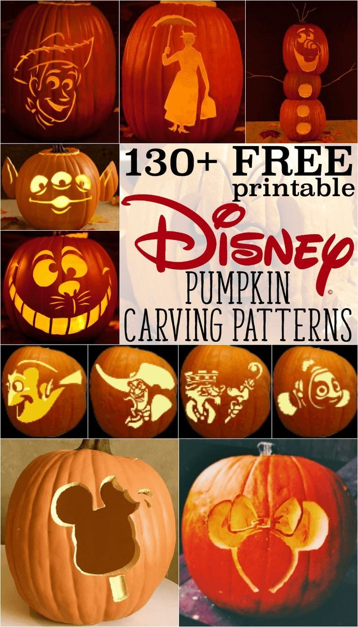 Disney Pumpkin Stencils: Over 130 Printable Pumpkin Patterns - Free Printable Lightning Mcqueen Pumpkin Stencil