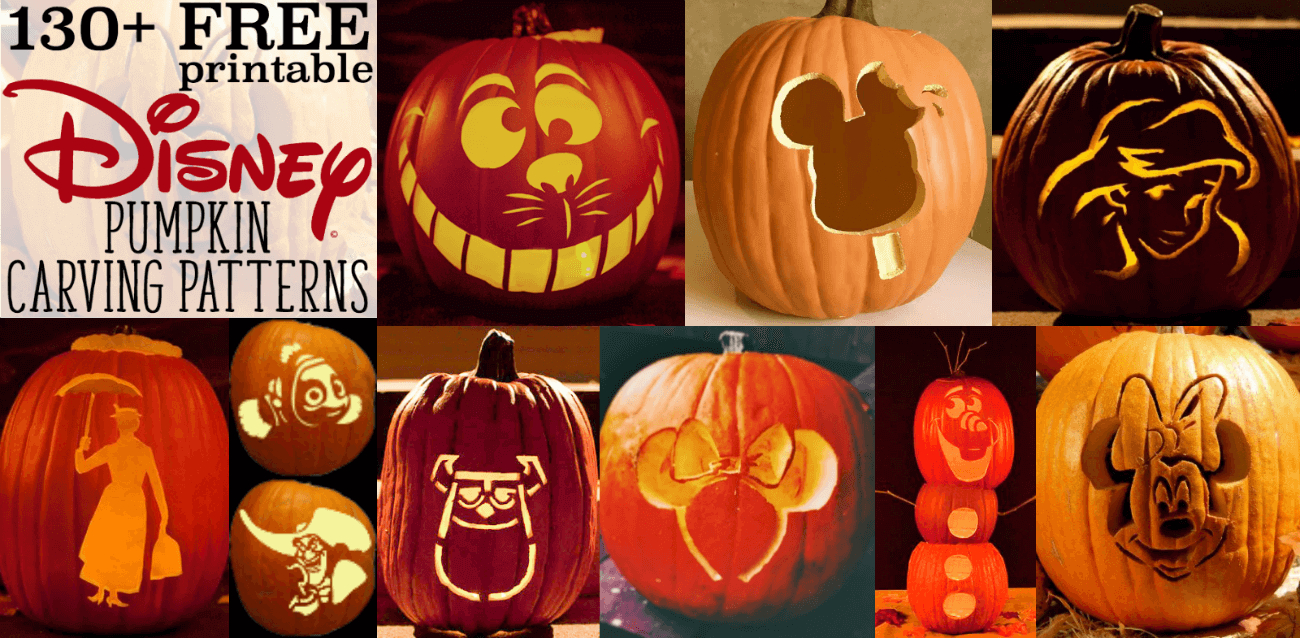Disney Pumpkin Stencils: Over 130 Printable Pumpkin Patterns - Free Pumpkin Carving Templates Printable