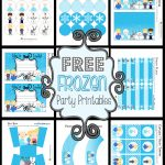 Disney's Frozen Party Printable Set ~ Free - Frozen Happy Birthday Banner Free Printable