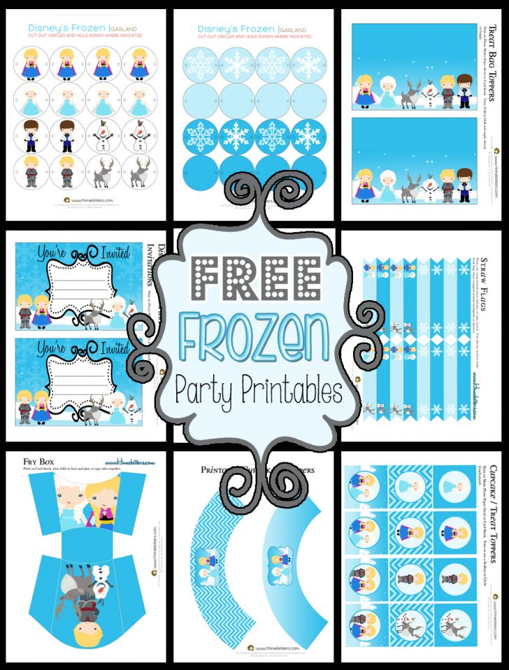 Frozen Happy Birthday Banner Free Printable
