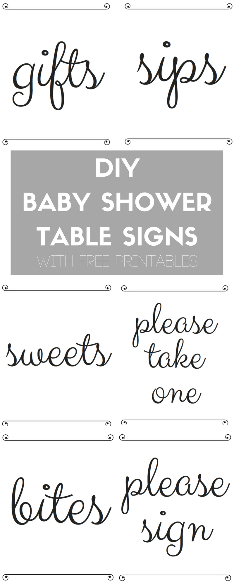 Diy Baby Shower Table Signs With Free Printables   Best Of The Blog - Free Printable Baby Shower Table Signs