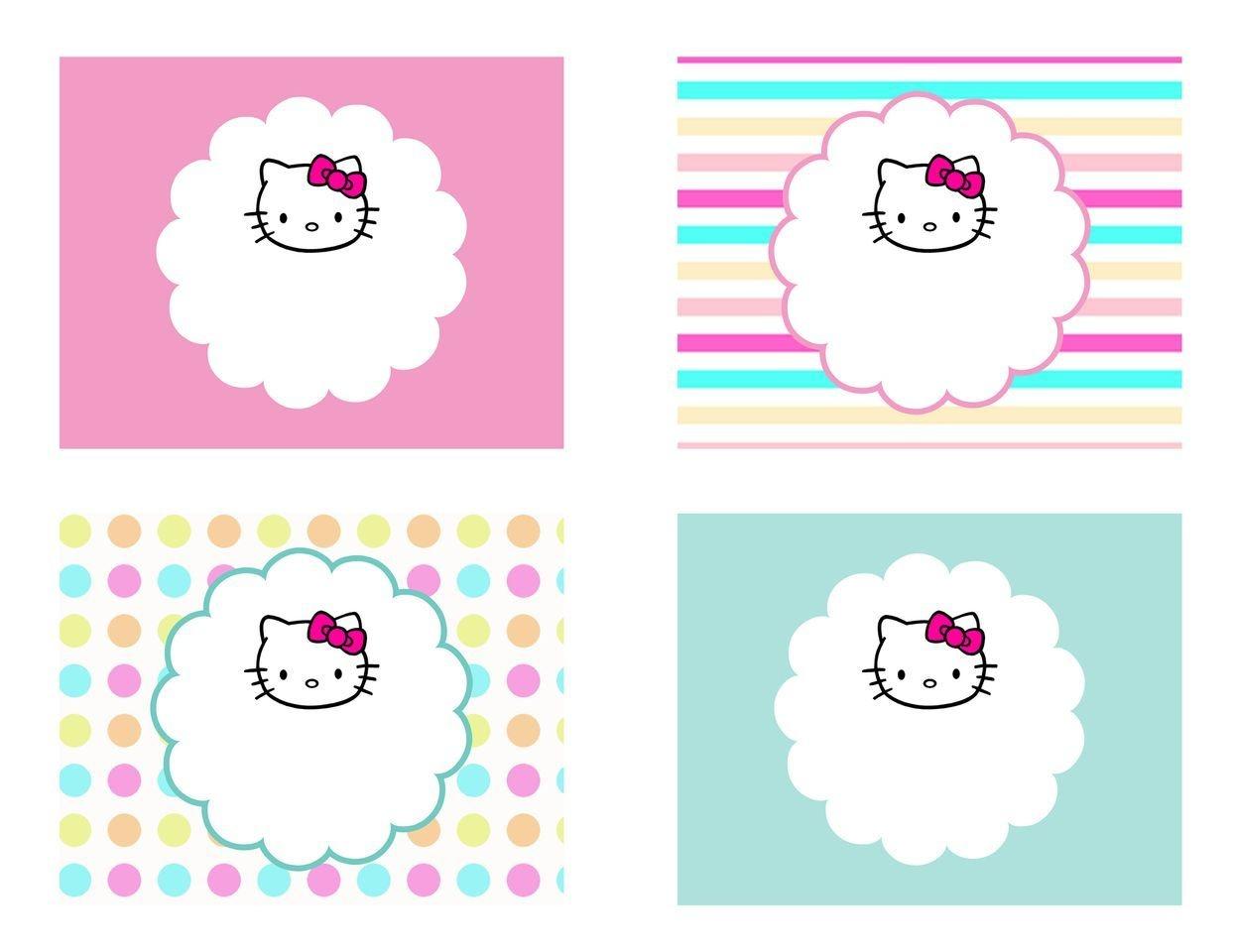 Diy Free Hello Kitty Label | Free Birthday Party Decorations | Hello - Hello Kitty Labels Printable Free
