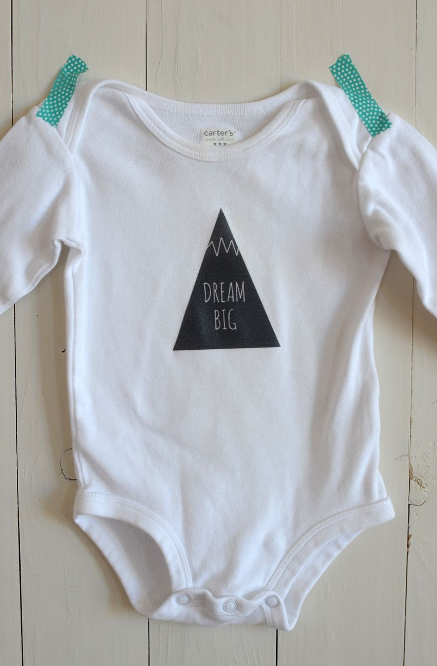 Diy Iron-On Graphic Onesie | Crafty Diy | Onesies, Baby Patterns - Free Printable Onesie Pattern