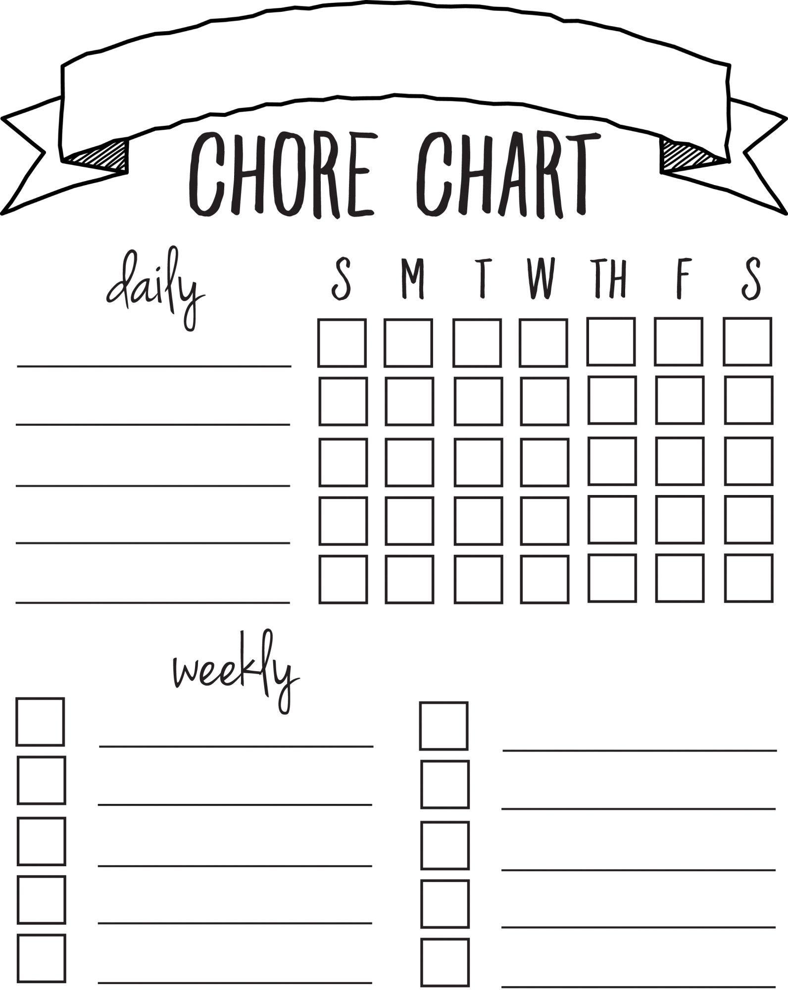 Diy Printable Chore Chart   Free Printables Nov/feb   Chore Chart - Free Printable Chore List