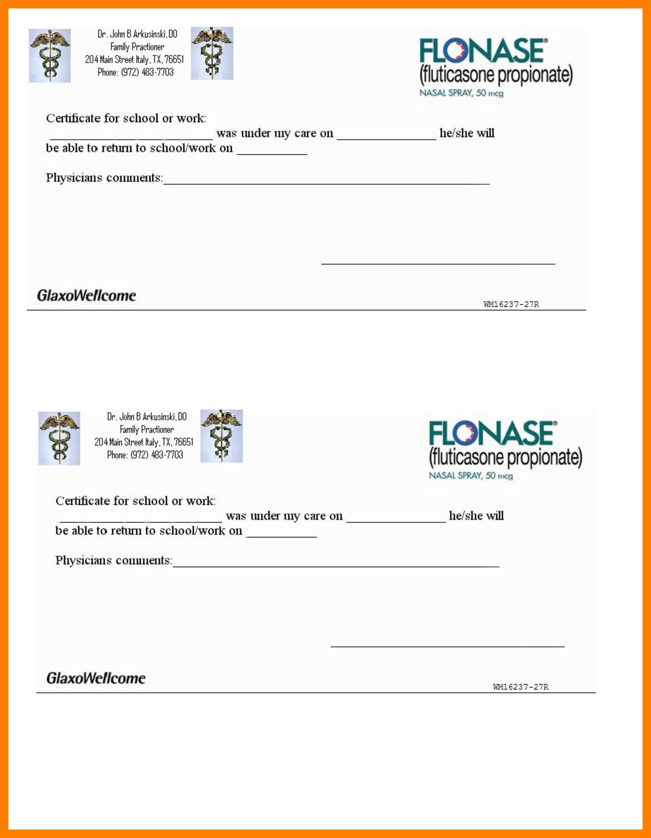 Doctors Note Letterhead - Kaza.psstech.co - Printable Fake Doctors Notes Free