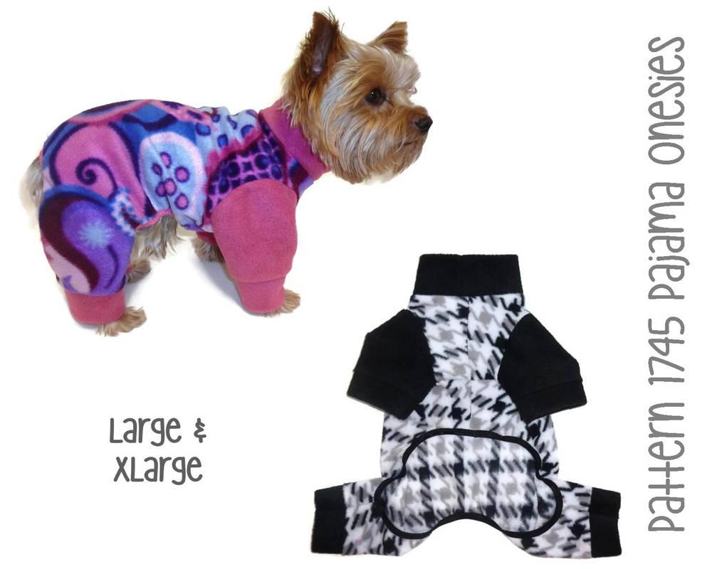 Dog Pajamas Onesie Pattern 1745 Dog Onesies Dog Pjs | Etsy - Free Printable Dog Pajama Pattern