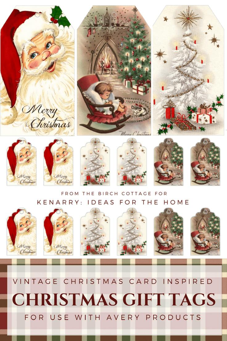 Download Free Printable Vintage Christmas Gift Tags For Holiday Wrapping - Free Printable Vintage Christmas Images