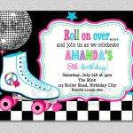 Download Free Template Free Printable Roller Skating Birthday Party   Free Printable Roller Skate Template