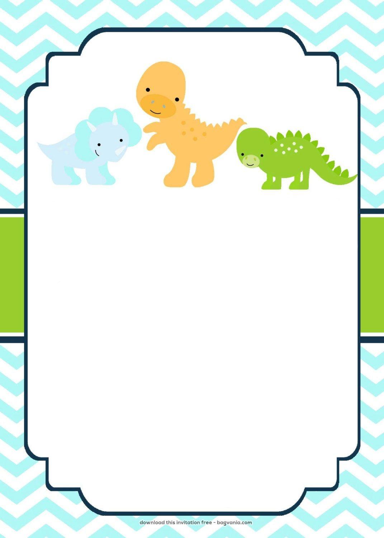 Download Now Free Dinosaur Birthday Invitations   Bagvania - Free Printable Dinosaur Baby Shower Invitations