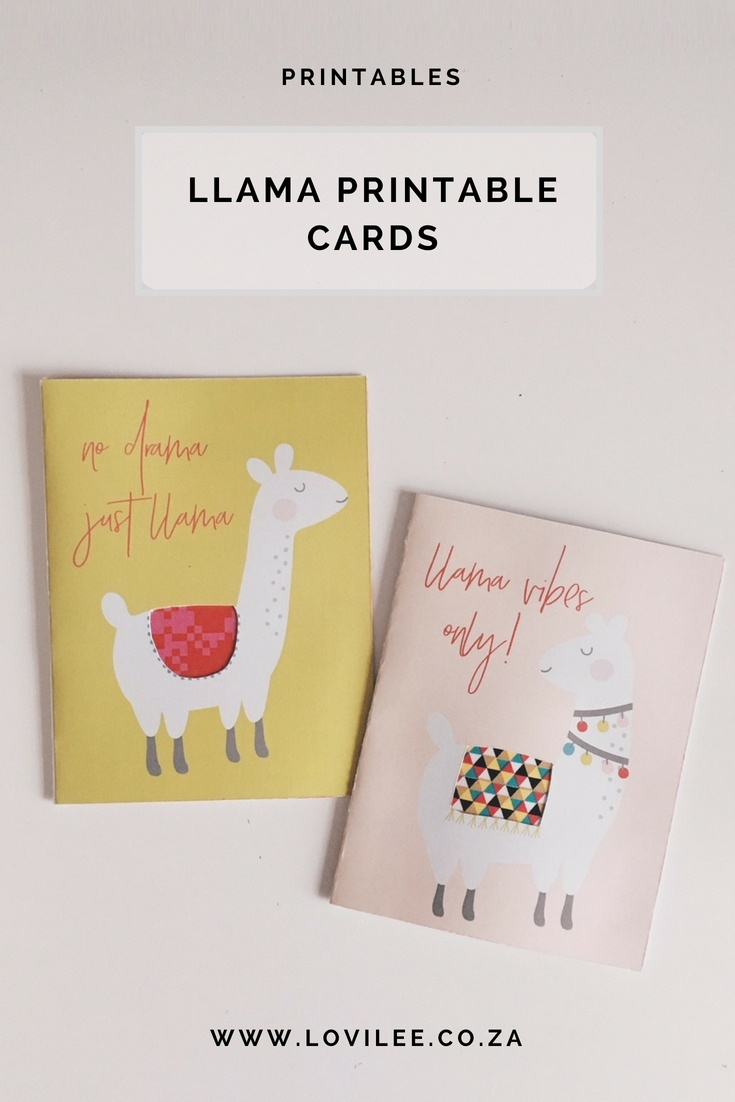 Download Your Free Llama Printable Cards | Lovilee Blog - Free Printable Cards No Download Required